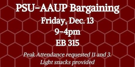 PSU-AAUP Bargaining - December 13 tickets