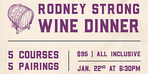 Rodney Strong Wine Dinner at Cobalt!