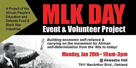 MLK Day Oakland - Dr. Martin Luther King Jr. Day of Service and Event tickets