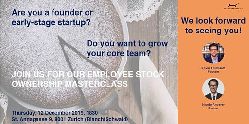 Masterclass on employee stock ownership plans for startups