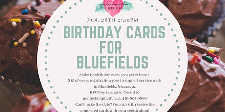 Birthday Cards for Bluefields tickets