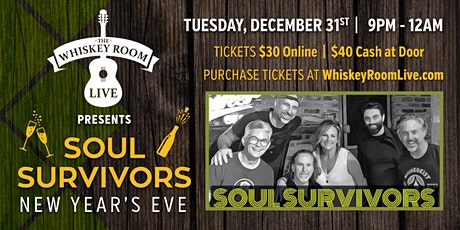 NEW YEAR'S EVE AT THE WHISKEY ROOM LIVE tickets