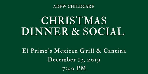 ADFW Childcare Christmas Dinner & Social