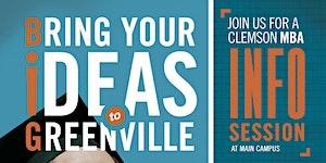 Clemson MBA Full-Time Program Info Session