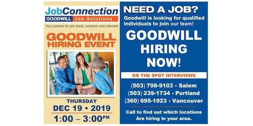 Goodwill is Hiring - Wilsonville - 12/19/19