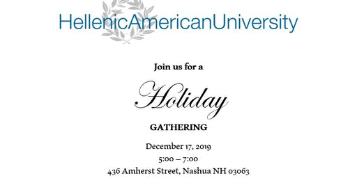 Hellenic American University Holiday Gathering