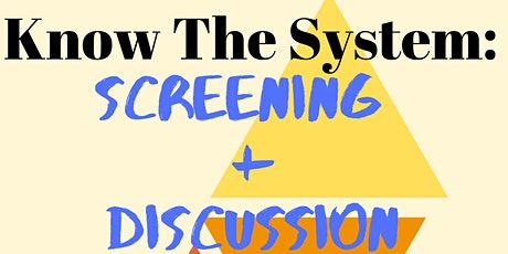 Know The System: Juvenile Detention (Discussion Group) tickets