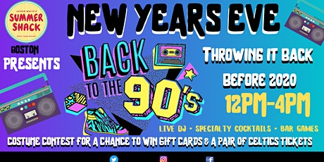 90's Throwback NYE at Summer Shack Boston tickets