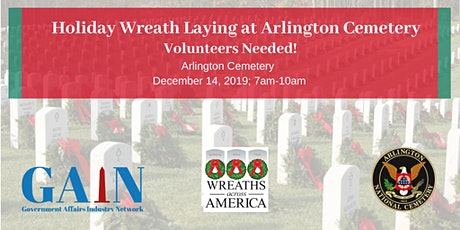 Holiday Wreath Laying at Arlington Cemetery tickets