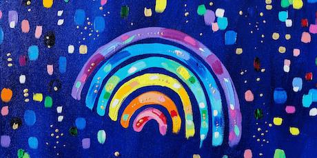 Rainbow Painting Workshop @sarahcoeyart-CreativeStirling Crowdfunder Reward tickets