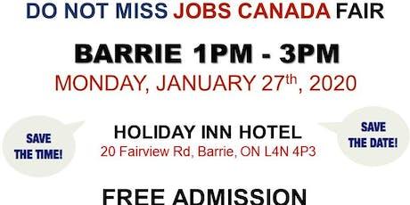 Barrie Job Fair – January 27th,2020 tickets