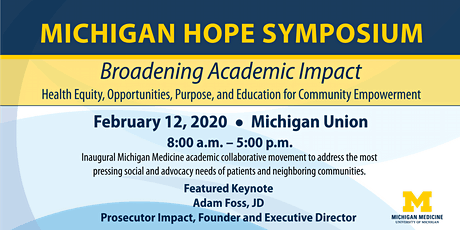 Michigan HOPE Symposium: Broadening Academic Impact tickets