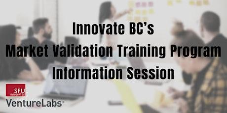 Innovate BC's Market Validation Training Program Information Session tickets