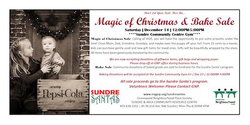 Magic of Christmas & Bake Sale 2019