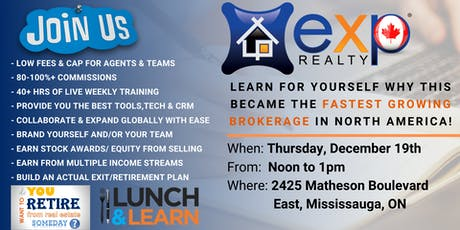 eXp Realty GTA Lunch & Learn: Everything You Need To Know About The Model! tickets