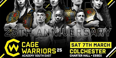 Cage Warriors Academy South East #25 - 7th March 2020 tickets
