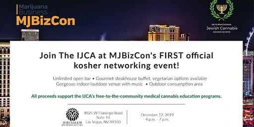 ​The IJCA Kosher Networking Event ​At MjBizCon 2019 in Las Vegas