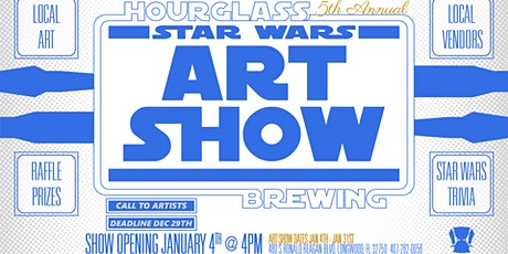 5th Annual Star Wars Art Show at Hourglass Brewing tickets