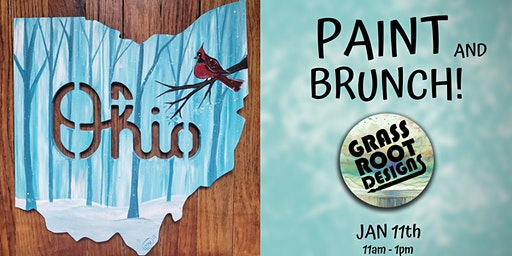 Ohio Winter Cardinal   Paint + Brunch!