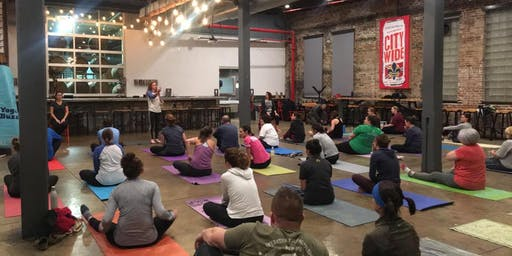 Yoga + Beer at 4 Hands Brewing Co.