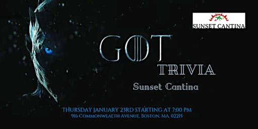 Game of Thrones Trivia at Sunset Cantina