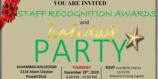 Union Settlement: Staff Recognition Awards and Holiday Party 2019
