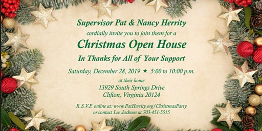 Pat & Nancy Herrity's Christmas Open House