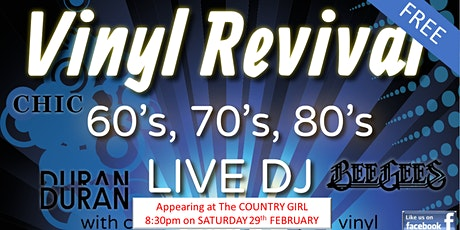 60s 70s 80s Party at the COUNTRY GIRL - ft. Vinyl Revival tickets