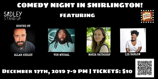 Busboys and Poets presents Comedy Night | Shirlington | December 17, 2019 | Produced by Allan Sidley