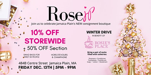 Rose JP Consignment opening celebration & winter drive!