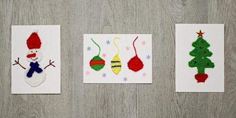Season's Greeting Holiday Cards Knitting Workshop billets