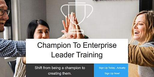 2-day Enterprise Leader Training Jan 14 and 21st 2020
