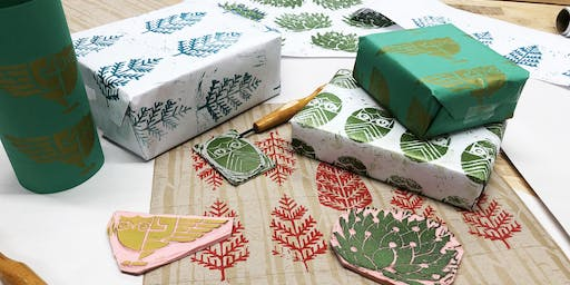Linoleum Carving and DIY Wrapping Paper Workshop
