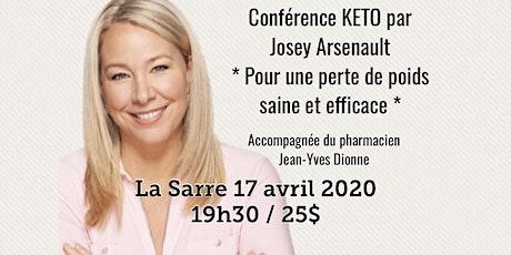 LA SARRE - Conférence KETO - Pour une perte de poids saine et efficace! 25$ billets