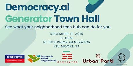 Generator Town Hall tickets