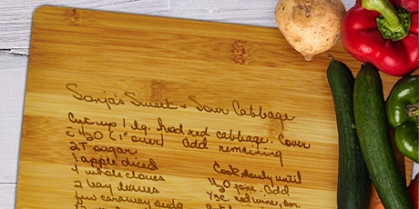 Personalize a Wooden Cutting Board in the Fab Lab, kitchen, cooking etching tickets
