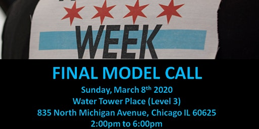 FINAL Model  Call  for  Chicago Fashion Week powered by FBC