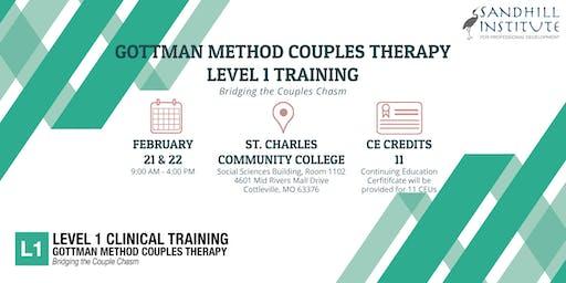 Gottman Method Couples Therapy  - Level 1 Training