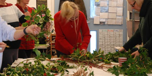 Festive Wreath Making Workshop using natural and upcycled materials