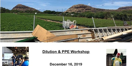 Dilution and PPE Workshop tickets