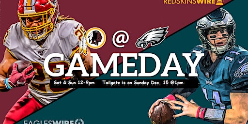 EAGLES vs Redskin INDOOR TAILGATE at the Black Expo 2019