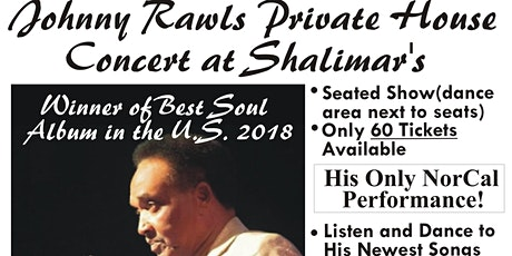 Johnny Rawls House Concert at Shalimar's tickets