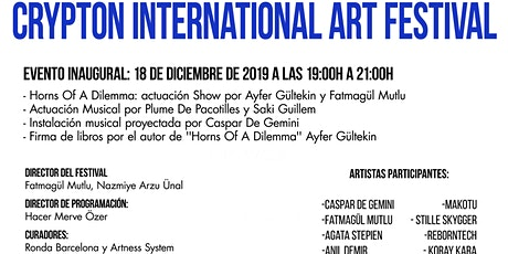 CRYPTON INTERNATIONAL ART FESTIVAL entradas