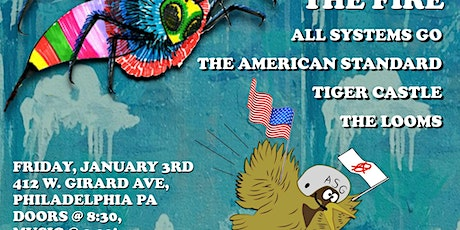 All Systems Go, The American Standard, Tiger Castle, The Looms tickets