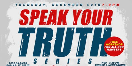 "SPEAK YOUR TRUTH SERIES: ""The Power of Media"" tickets"