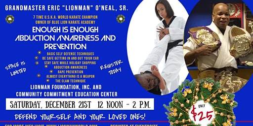 Enough Is Enough Abduction Prevention Awareness and Self-Defense Workshop