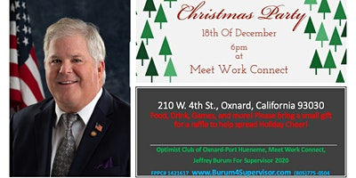 Christmas Party and Holiday Mixer- Jeffrey Burum Meet and Greet