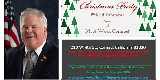 Christmas Party and Holiday Mixer- Jeffrey Burum Meet and Greet