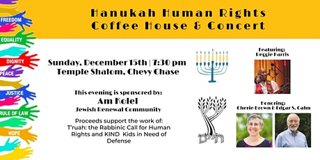 Hanukah Human Rights Coffee House & Concert tickets