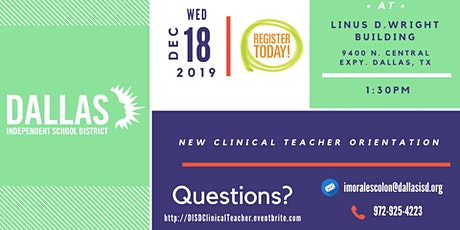 New Clinical Teacher Orientation tickets